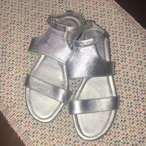 Tod's sandals- silver